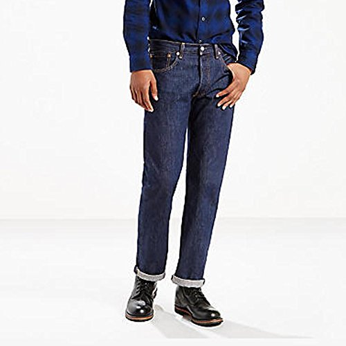 Levi's Men's 501 Rinse Wash Button Fly Jeans 33x32 (Jeans Wash Rinse)