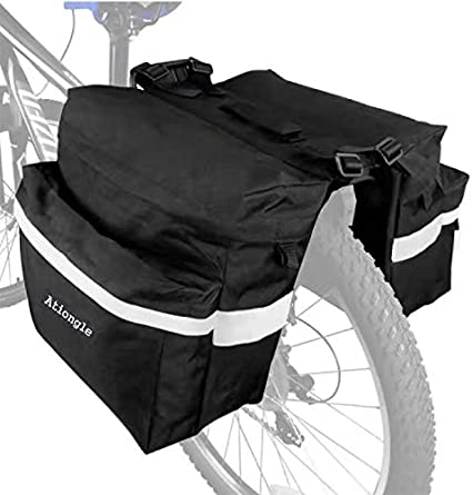 Pannier Rack Luggage Carrier Shoulder Bag Tail Saddle Bag Bike Seat Rear Pouch