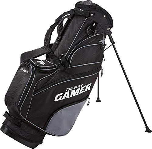 Top Flite Mens Gamer Golf Stand Bag (Black)
