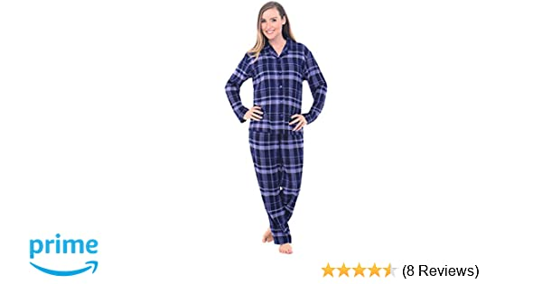 Alexander Del Rossa Womens Flannel Pajamas, Long Cotton Pj Set, Large Blue Plaid (A0509Q18LG) at Amazon Womens Clothing store: