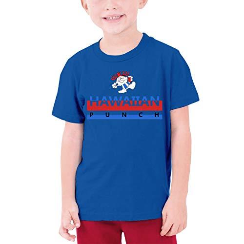 MiiyarHome Teenage T-Shirt Rum Punch Recipe, Kids Teen Short Causal Sleeves Tee Children Blue -