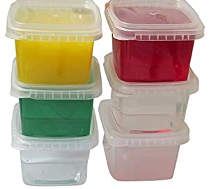 Space Saver Deli Food Storage Containers With Lids 16 Oz. Tamper evident security system Leak Proof- easy stackable - Restaurant Take Out container -Freezer microwave dishwasher safe -25 sets
