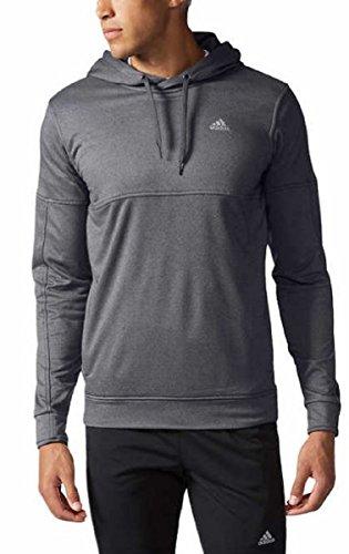 Adidas Men's Textured Pullover Hoodie (Heather Gray, Medium)