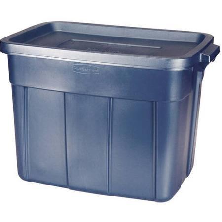 Rubbermaid 18-Gallon (72-Quart) Roughneck Storage Box, Bl...