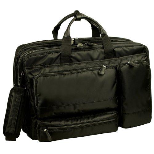 服部 RYU'S ONE リューズワン AD 軽量 2way ビジネス ショルダーバッグ ガーメントバッグ付属 2ルーム エキスパンダブル ブラック 10-2502-BK B072J9CZ6K