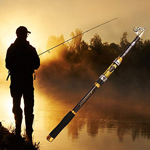 haixclvyE 2.1M-3.6M Telescopic Lightweight Fishing Rod Outdoor Sea Fishing Rod Fish Pole Tackle Tool for Saltwater Freshwater