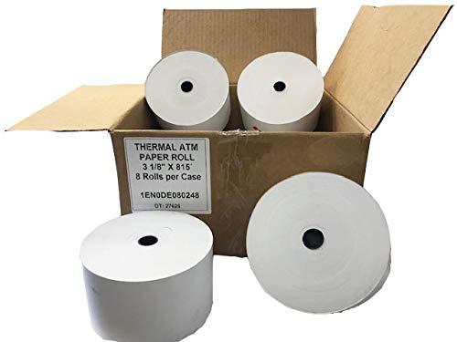 ATM Paper 3 1/8'' x 815', Heavy Thermal, CSI, 11/16'' Core,(8 Rolls/case)