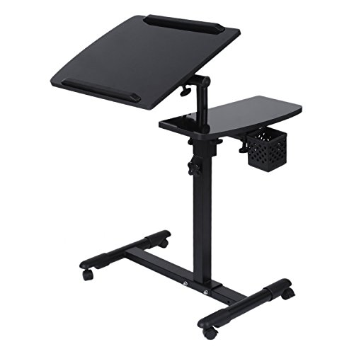 Adjustable Laptop Bed Coach Table, Notebook Stand Reading Holder for Couch, Foldable Sofa Breakfast Desk With Tilting Tabletop Height Adjustable Computer Desk ,Portable Notebook Table