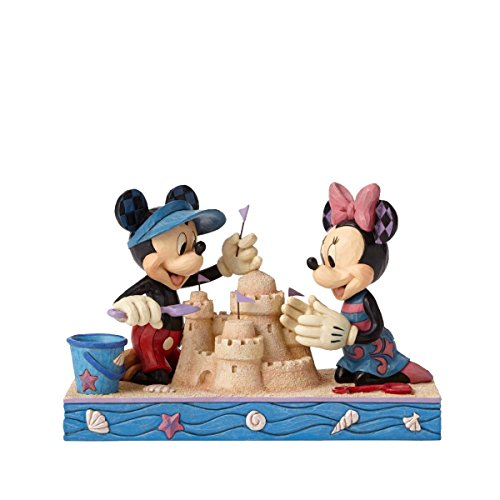 Enesco Disney Traditions by Jim Shore Seaside Mickey and Minnie Figurine, ()