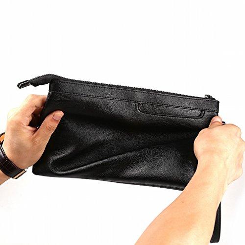 a nero da visita Buste biglietti a Man mano Wallet tempo grande Busta per per nero libero Borsa mano Q multiuso il qHfIO6
