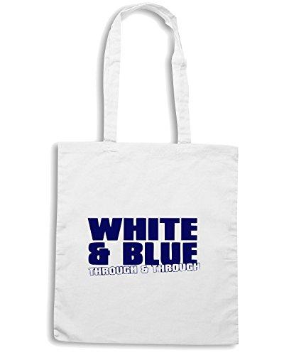 T-Shirtshock - Bolsa para la compra OLDENG00297 white and blue Blanco