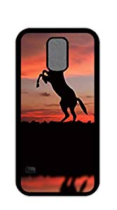 TUTU158600 Design Hard Skin Case Cover Shell for Mobilephone case for samsung galaxy s5 purple - Walking Mustang Horse
