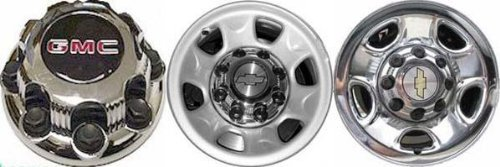 (16 Inch OEM GMC HD 8 Lug Chrome Plated Center Cap Hubcap Wheel Cover, 2000-2010 # 9597159 15052381 5075 5198 Sierra Yukon 2500 3500 Pickup Truck SUV SRW 8.5