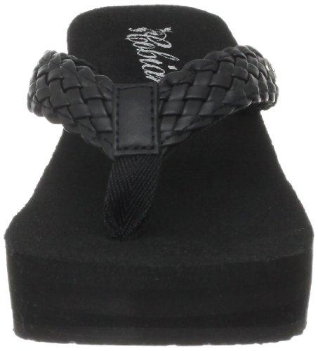 cobian Women's Zoe Flip-Flop, Black, 8 M US Black
