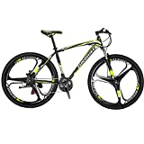 EUROBIKE EURX1 27.5 Inch K Wheel Mountain Bike 21 Speed MTB Bicycle Suspension Fork Mountain Bicycle Blackyellow For Sale