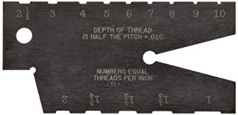 Starrett 284 Acme Standard Screw Thread Gauge, Hardened, 29 Degree Angle