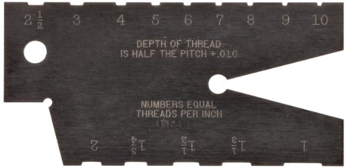 Starrett 284 Acme Standard Screw Thread Gauge, Hardened, 29 Degree Angle