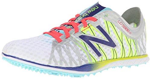 New Balance Women's WLD5000 Long Distance Spike Shoe,Silver/Purple,7.5 B US