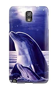 Awesome Dolphins Flip Case With Fashion Design For Galaxy Note 3