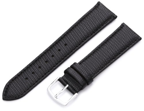 Hadley-Roma 20mm 'Men's' Leather Watch Strap, Color:Black (Model: MSM725RA 200) -