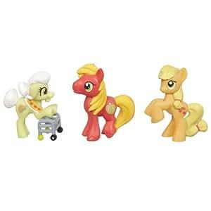My Little Pony Friendship is Magic Apple Family Set 3Pack Granny Smith, Big Macintosh Applejack Set