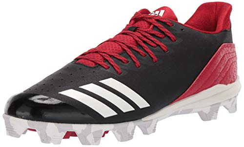adidas Men's Icon 4, Black/Cloud White/Power red, 12 M US