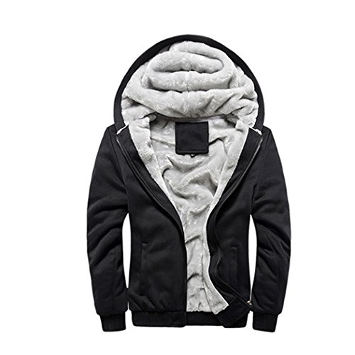 Rocky Sun Men Winter Hooded Jacket Hoodie Faux-Fur Lined Warm Coat Black - Swimming Gear Singapore
