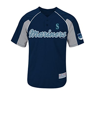 MLB Seattle Mariners Men's Cano 22 Jersey, Athletic Navy/Stone Gray/White, Small