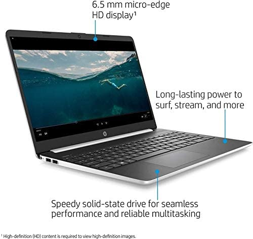 2020 Newest HP 15 15.6″ HD Micro-Edge Business Laptop (10th Gen Intel Core i5-1035G1, 8GB DDR4 RAM, 256GB PCIe M.2 SSD) USB Type-C, HDMI, HD Webcam, Windows 10 Home Silver + IST HDMI Cable 41O3cDwO rL