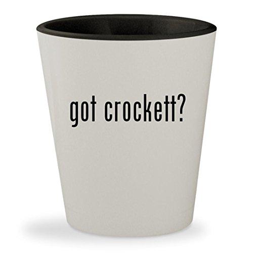 got crockett? - White Outer & Black Inner Ceramic 1.5oz Shot (Davey Jones Bar)