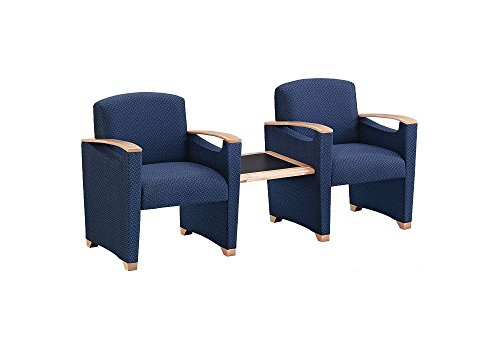 Fabric Guest Chairs with Center Table Dimensions: 72