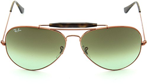 Ray-Ban RB3029 9002A6 OUTDOORSMAN II Green Gradient Aviator Sunglasses 62mm
