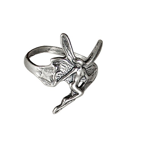 Sterling Dragon Detailed Ring Silver - Sterling Silver Fairy Ring Size 6