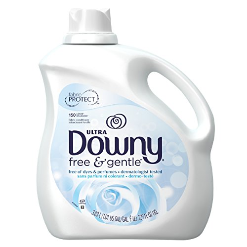 Downy Free & Gentle Liquid Fabric Conditioner (Fabric Softener), 129 FL OZ