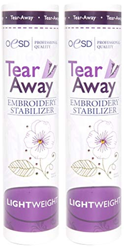 - OESD Light Weight Tear-Away Embroidery Stabilizer 1.5oz 10