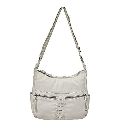 Bueno Washed Leather Faux of White Shoulder Woven California rqIrvtZ