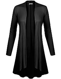 BIADANI Women Long Sleeve Classic Open Front Lightweight...