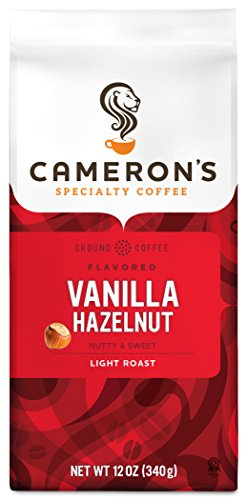 (Cameron's Coffee Roasted Ground Coffee Bag, Flavored, Vanilla Hazelnut, 12)