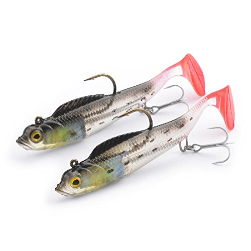 FishingSir Pre Rigged Plastic Artificial Swimbaits