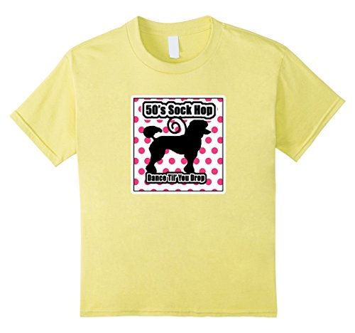 Kids 50's Sock Hop Shirt Dance Till' You Drop 1950's Theme Party 6 Lemon