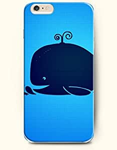 iPhone 6 Case,OOFIT iPhone 6 (4.7) Hard Case **NEW** Case with the Design of Blue Whale and Litte Whales - ECO-Friendly Packaging - Case for Apple iPhone iPhone 6 (4.7) (2014) Verizon, AT&T Sprint, T-mobile