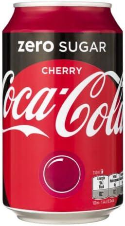72 x Coca Cola Zero Cherry cans, dosen, canettes, latas, lattine 0,33 L: Amazon.es: Alimentación y bebidas