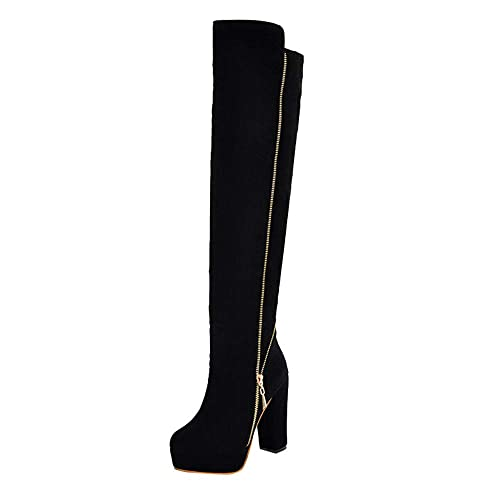 Botas para Mujer,Mujer Botas sobre la Rodilla Zapatos de Mujer ...