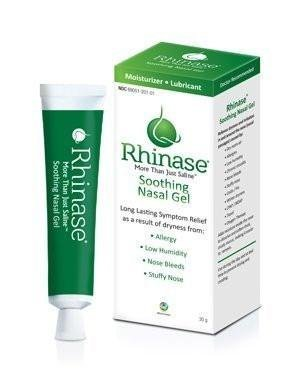 Rhinase Nasal Lubricating Gel 1 oz for Dry Nose, Allergy and to Prevent Nosebleeds Caused by Nasal Dryness