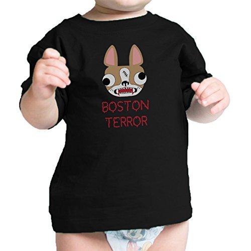 Infant Boston Terrier Costume (365 Printing Boston Terror Terrier Cute Baby Black Tee Shirt Halloween Costume)