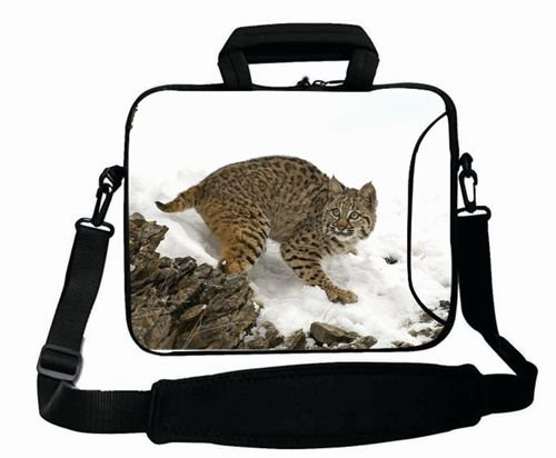 Fashionable Designed ( Animals lynx snowS white scared ) Laptop Bag For Women (15