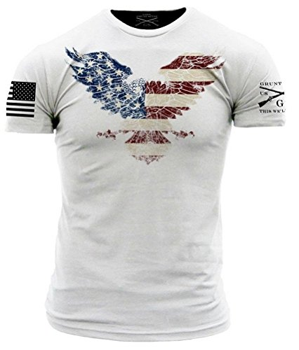 Grunt Style Freedom Eagle Men's T-Shirt, Color White, Size S (Freedom Eagle T-shirt)