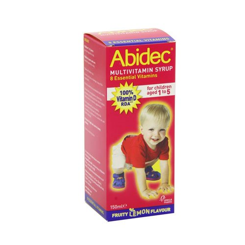 Abidec Multivitamin Syrup With Omega 3 Lemon Flavour - 150ml