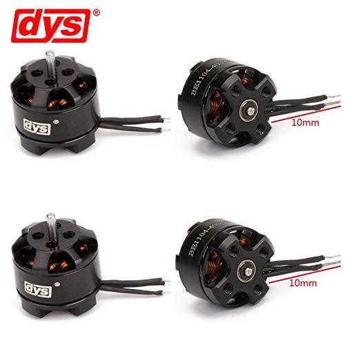 DYS 4PCS BE1104 4000KV 3-4S Micro Brushless Motor for FPV Racing Drone Mini Multirotor 100-150mm Frame/RC Helicopter Quadco (4000KV)