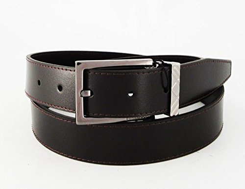 Burberry Brit Glossy Leather Briar Check Buckle Belt Size - Black Belt Burberry
